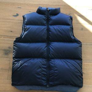 LL Bean men's reversible down puffer vest